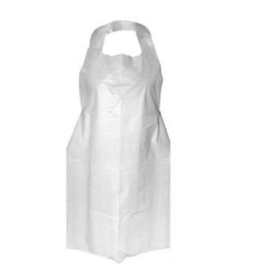 Disposable plastic aprons tie back